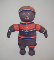 "Old Antique Vtg Ca 1900s Hand Made Folk Art Cloth Sock Rag Doll 10.5"" Tall Nice"