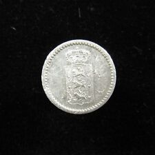 Danish West Indies Silver 10 Skilling 1845, cleaned