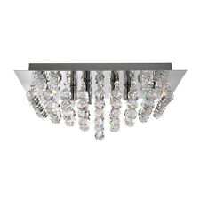 Searchlight 6404-4cc HANNA Chrome Finish Semi Flush Ceiling Light/Crystal Balls