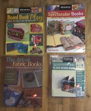 Lot Make Spectacular Books Art of Fabric Books Blank Accordion Board Book Play