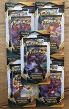 Pokemon Schwert und Schild Flammende Finsternis 5 Doppel Booster 100 Karten