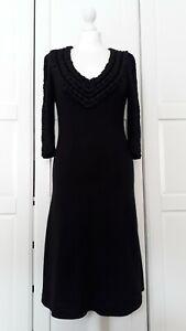 Temperley London Black Cashmere Silk Knit Jumper Dress UK12