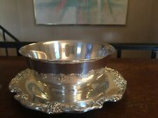 "Reed & Barton Silverplate Serving Bowl King Francis 8.5"" Underplate Sauce Fruit"