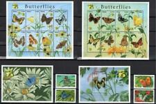 [GAN] GHANA 1999 BUTTERFLIES, INSECTS. SET OF 4 STAMPS + 2 SH. OF 8 +2 S/S.