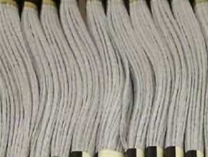 DMC Embroidery Floss Color #168 Very Light Pewter