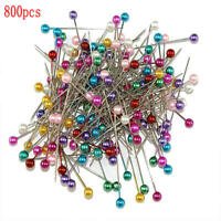800PCS Mix-color Pearl Round Head Dressmaking Pins DIY Sewing Positioning Pin