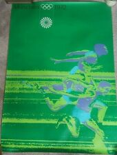Original 1972 Munich Olympic poster A0 size - Athletics (100m)