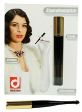 Denicotea Cigarette and Filter Holder Lady Black & Gold (20202)