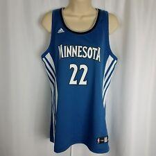 Adidas Womens Minnesota Timberwolves NBA Andrew Wiggins Blue Jersey Basketball L