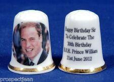Prinz William 'Happy Birthday Sir '30th Geburtstag 21. June 2012 Fingerhut B /
