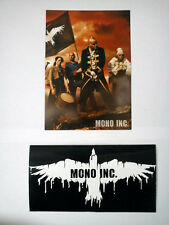 MONO INC. - VIVA HADES - Aufkleber/Sticker + Autogrammkarte/Promo-Flyer