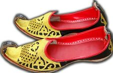 Pakistani Leather Khussa Genie Shoe Men Mojari Maharaja juti Aladdin US 8