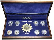 Poland 2009 silver 9 coins Systema Solare Planetary Sonnensystem Système Etui
