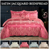 Quilted Bedspread Bed Throws Bedding Set with Pillow Shams Double & King Size