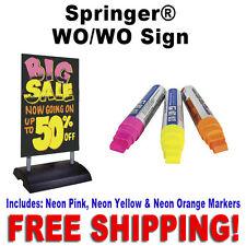 "24""W x 36""H Springer Write On Wash Off Sidewalk Sign  Black"
