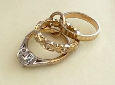 Stunning Hallmarked Vintage 9Ct Gold Marriage Rings Charm Or Pendant Very Pretty