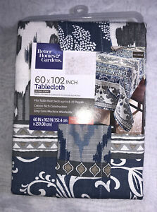 "Better Homes Gardens Global Stripe 60"" x 102"" Large Tablecloth NEW"