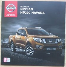 rare catalogue nouveau Nissan NP300 Navara-  France - Septembre 2015 - 8p