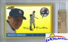 1955 Topps Mickey Mantle EXCLUSIVE Factory Set GOLD Chrome REFRACTOR BGS 9.5