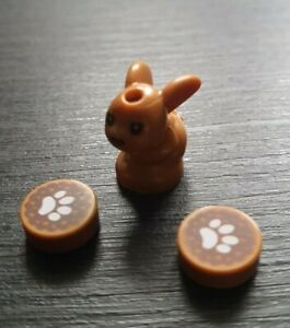 Lego Rabbit and Paw print tiles - Genuine and new