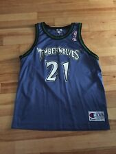 Vintage Kevin Garnett Timberwolves Champion Jersey Size Kids XL WOW!