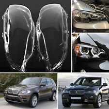 For BMW X5 E70 2008-2013 Pair Right&Left Car Headlight Lens Lamp Cover Lampshade