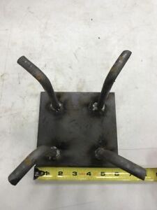 "Concrete Anchor Plate 6""x6""  W/ J-bolts Steel Buildings, Barndominium Cement"