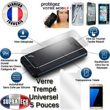 Protection Ecran Verre Trempé Contre les Chocs Tous Smartphones Ecran 5 Pouces