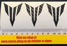 3x Black Carbon Fibre MT-07 Small Logo Sticker 50mm Tall X 40mm Stickers Decal