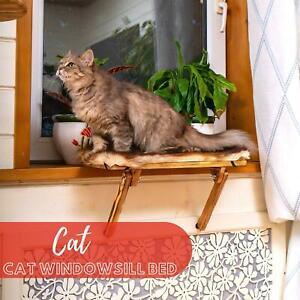 Cat Windowsill ledge Hammock - Sunbathing Window Catio Bed Shelf - Indoor Cats
