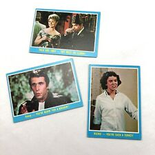New listing 1976 Happy Days Trading Cards Lot Of 3 Paramount Pictures Topps Fonz Nm To Mint