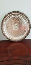 Silver Etched Trophy Ornate Plate