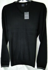 Dunning Golf Black V-Neck Sweater in 100% Merino Wool MSRP $135 PGA Tour NWT -XL