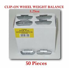 50 Pcs P Style Clip-on Wheel Weight Balance 1.25oz 35 gram  P125 Led Free