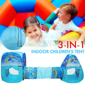 3 in 1 Folding Game Play Tent Baby Toddler Crawling Tunnel Play Tube  ! #