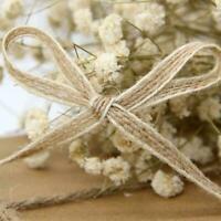 1 Roll Natural Jute Burlap Hessian Ribbon Lace Trims Rustic Tape Wedding 20 E7E7