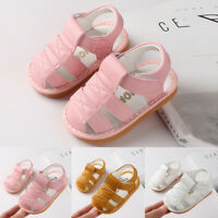 Newborn Baby Kids Girls Boys Letter Shoes Sandals First Walker Soft Sole Shoes