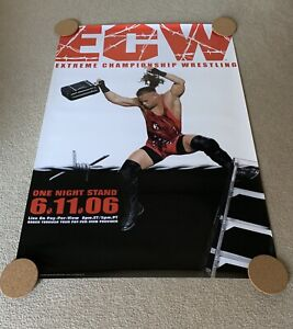 Vintage ECW WWE One Night Stand 2006 Poster Rob Van Dam Hasbro LJN OPC Rare WWF