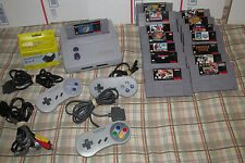 Super Nintendo System SNES Mini JR Console 15 Games Bundle Mario World & MORE ++