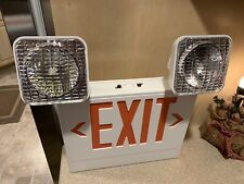 LED Thermoplastic LED Dual Sided Exit Sign Combination, New In Box