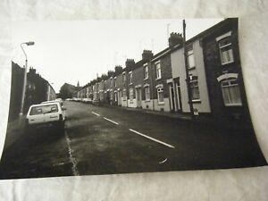 Black & White Photo / Art Print, Street Scene, Terraced Houses, Cars, 1980's