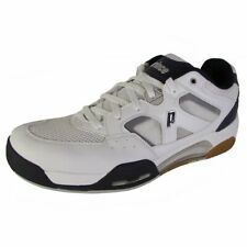 Prince Nfs Attack Men's Squash Shoe (White/Navy/Silver, 5.5)