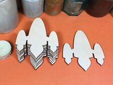De Madera avión Espacial Cohete formas 10cm (X 10) De Madera Forma artesanía Blanks