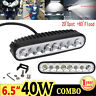 8LED 40W Flood Spot Combo LED Work Light off Road SUV Fog Driving Bar Lamp Light