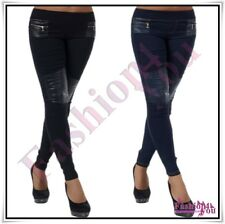 Sexy Ladies Skinny Treggings Women's Casual Summer Trousers Size 6,8,10,12,14 UK