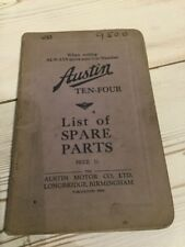 Austin Ten-Four illustrated Parts List Publication. No 909A