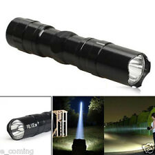 Mini 3W 2000LM Super Bright Cree LED lamp Clip Flashlight Focus Torch Light BK