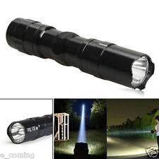 Mini 3W 2000LM Super Bright Cree LED lamp Clip Flashlight Focus Torch Light BK