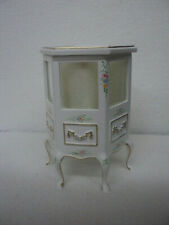 DOLLHOUSE DISPLAY CASE- WHITE-HAND PAINTED