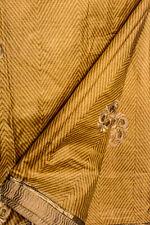 Vintage Indian Pure Tussar Silk Saree Recycle Hand Woven Sari Wedding Dress Wrap